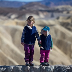Lilli and Paula at Zabriskie Point