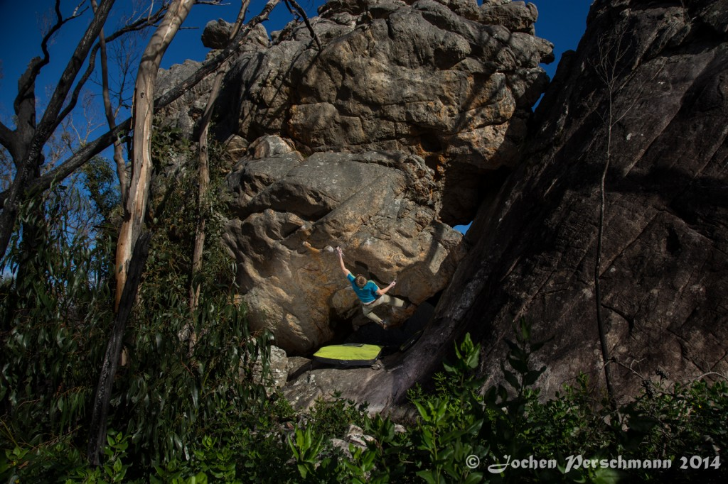 "Jochen in ""Rubiks sqube"" V12_Buandik, southern Grampians, Austraia"