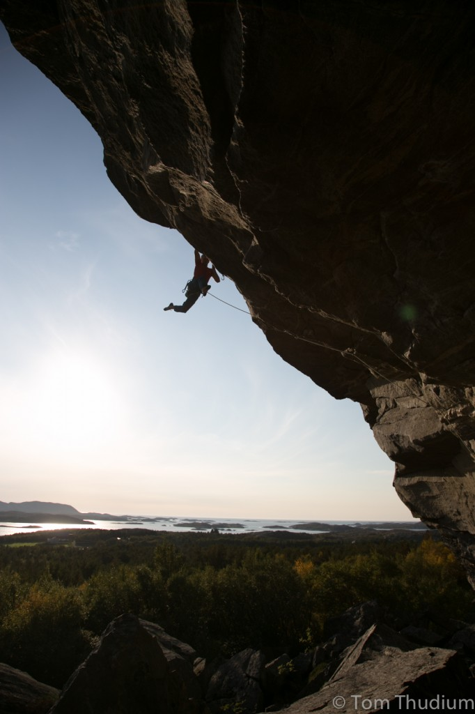 First Ascent of Froskenkongen 8c, Glasoyfjellet, Norway