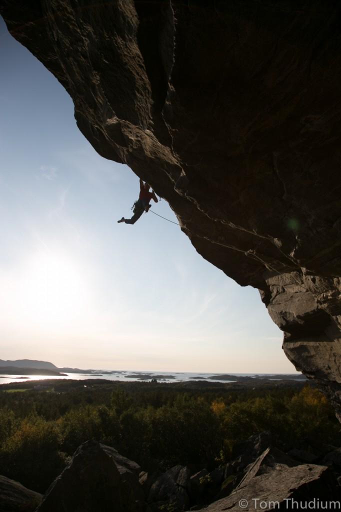 First Ascent of Froskenkongen 8c, Glasoyfjellet, Norway